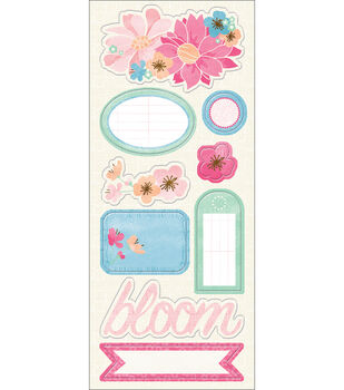 Imaginisce Garden Party Chipboard-May Flowers