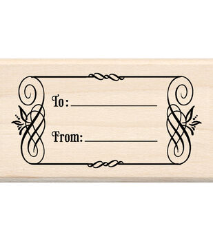 Inkadinkado Mounted Rubber Stamp-To & From Tag