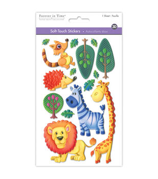 MultiCraft Soft-Touch 3D Stickers-Animal Pals
