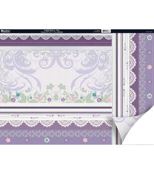"Kanban Crafts English Riviera 2-Sided Cardstock 12""X12""-Lilac"