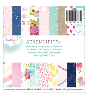 "American Crafts Paper Pad 6""X6"" 36/Pkg-Dear Lizzy Serendipity"