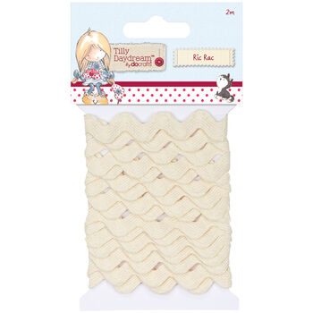 Docrafts Tilly Daydream Ric Rac Trim Ribbons