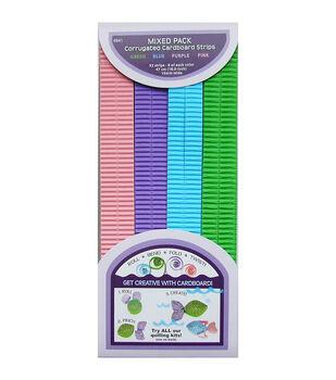 "Quilling Paper Corrugated 18.5""X10mm 32/Pkg-Blue, Green & Purple"