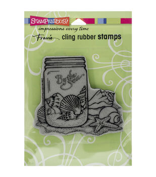 Stampendous Seashell Jar Cling Rubber Stamp