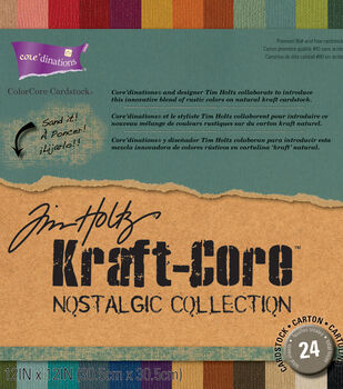 Core'dinations Tim Holtz Nostalgic Kraft Core Cardstock 12''x12''