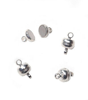 Darice® 7mm Magnetic Clasps-3 clasps /Silver
