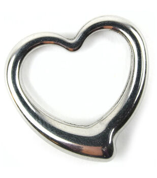 Midwest Design Paracord Silver Open Heart Charm
