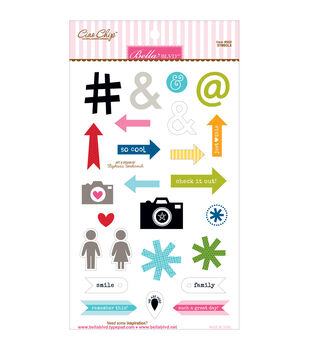 Bella BLVD Color Chaos Symbols Chipboard Stickers