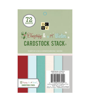 "DCWV 4-1/2""x6-1/2"" Christmas and Winter Cardstock Matstack"