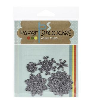 Paper Smooches Die-Snowflakes