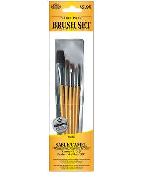 Brush Set Value Pack Sable/Camel 5/Pkg