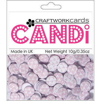 Craftwork Cards Candi Dot Printed Embellishments Candy Floss