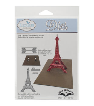 Elizabeth Craft Designs Pop It Up Eiffel Tower Pop Stand Metal Dies