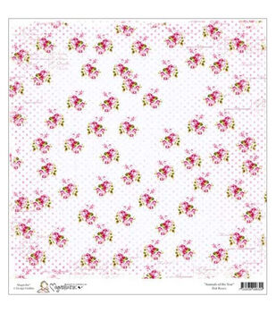 """Animal Of The Year Heavyweight Cardstock 12""""X12""""-Dot Roses"""