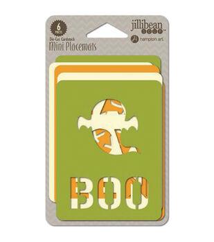 "Halloween Die-Cut Mini Placemats Cards 3""X4"" 6/Pkg-"