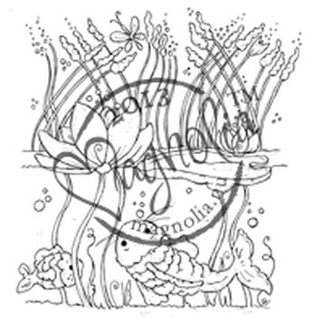 Magnolia 2013 Once Upon A Time Cling Stamp Waterlily Background