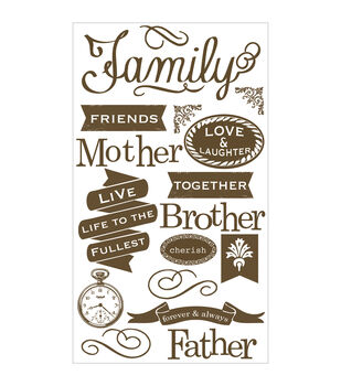 Wisteria Clear Stickers-Wonderful Family