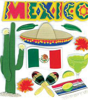 EK Success Dimensional Stickers-Mexico
