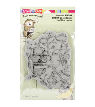 "Stampendous House Mouse Cling Rubber Stamp 4""X6"" Sheet-Fully Content"
