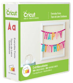 Cricut® Everyday Fonts Cartridge