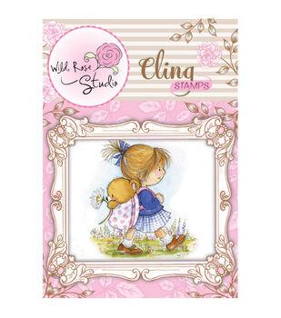 Wild Rose Studio Cling Stamp Emily Walking