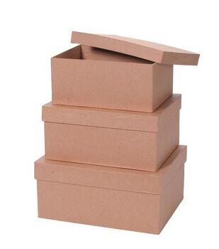 Paper Mache Box Set-3PK/Rectangle