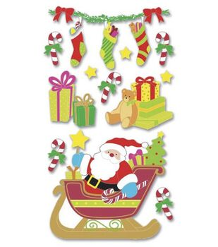 Jolee's Boutique Le Grande Themed Ornate Stickers-Santa Sleigh