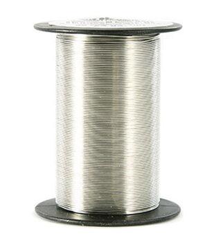 24 Gauge Wire 25 Yards/Pkg-Silver