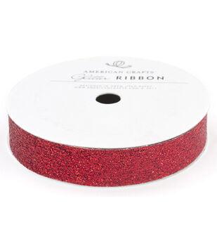 5/8In Glitter Rouge