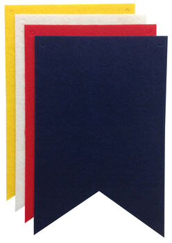 Stiff Felt Banner Pieces - 4 Pack - Fish Tails - Primary Colors