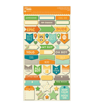 """Cool As A Cucumber Soup Cardstock Stickers 6""""X11""""-Labels"""