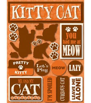 Reminsce Signature Dimensional Stickers-Cat