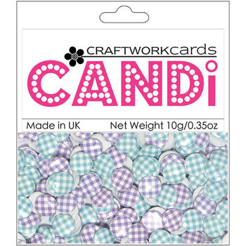 Craftwork Cards Candi Dot Printed Embellishments Aurora
