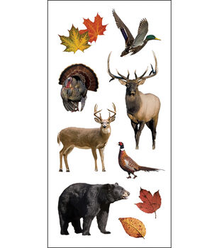 "Paper House Stickers 2""X4"" 3/Pk-Wildlife"