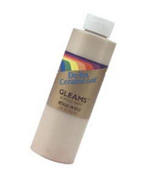 Ceramcoat Gleams Acrylic Paint-8oz/14K Gold