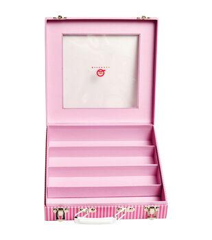 Queen & Co Trendy Tape Pink Storage Case