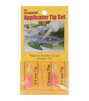 Sakura 3-D Crystal Lacquer .6mm Applicator Tips-6PK