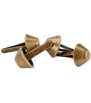 14mm Purse Feet 4/Pkg-Antique Brass