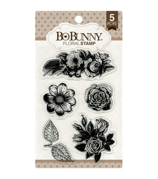 Bo Bunny Floral Clear Stamps