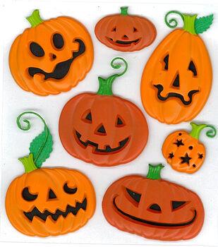 Jolee's Boutique Dimensional Stickers-Funny Pumpkins