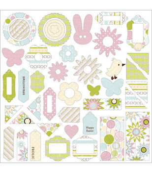 Making Memories Chipboard Jigsaw Shapes-60PK/Garden Party
