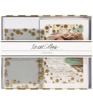 Teresa Collins Studio Gold Overlay Card Kit 10/Pkg