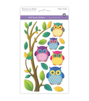 MultiCraft Soft-Touch 3D Stickers-Owl Buddies