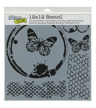 Crafter's Workshop Butterfly Collage Template 12''x12''