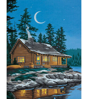 Dimensions Paint By Number Kit Lakeside Cabin