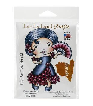 La-La Land Crafts Flamenco Marci Cling Mount Rubber Stamps