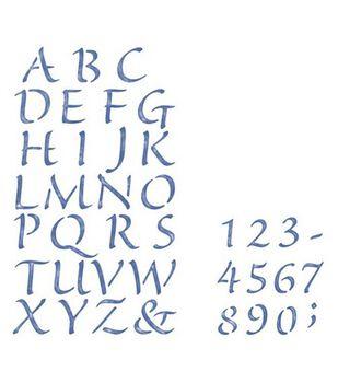 Simply Stencils Stencils 10''X18'' & 8''X10''-Alphabet/Numbers