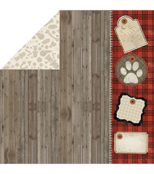 "Hound Dog Double-Sided Cardstock 12""X12""-Bark"