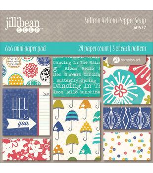Jillibean Soup Saffron Yellow Pepper Soup Paper Pad