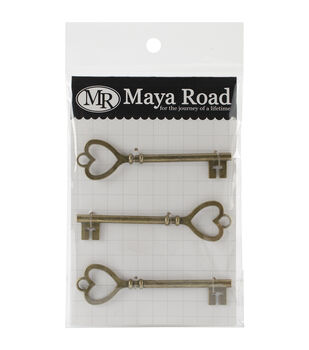 Maya Road Key to My Heart Charms - Vintage Findings